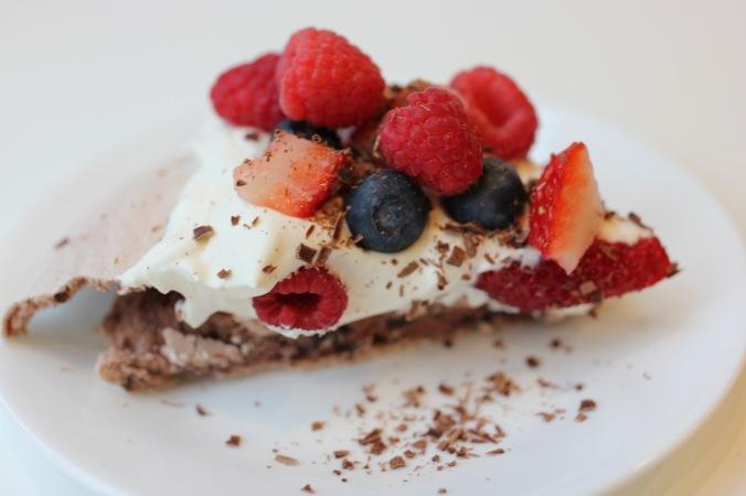 Chocolate Pavlova {Gluten Free}
