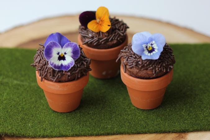 Mini Flower Pot Brownie Poppers {Gluten Free}